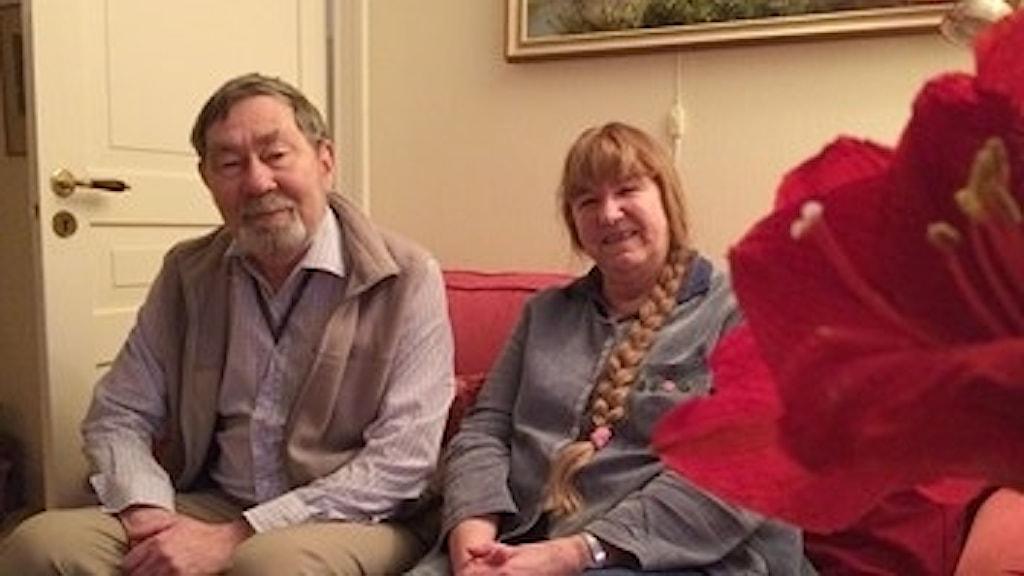 Ann Britt Bergström och Björn Bergström från Rö:s hembygdsförening