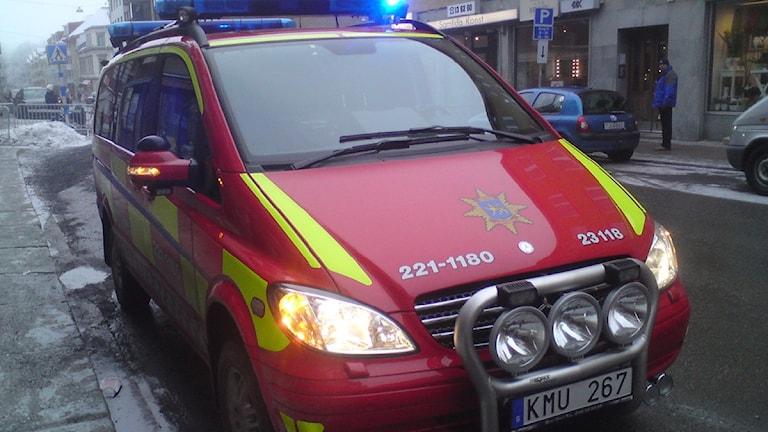 Anställda inom Räddningstjänsten ska helst inte uttala sig. Foto: August Bergkvist/SR Uppland.