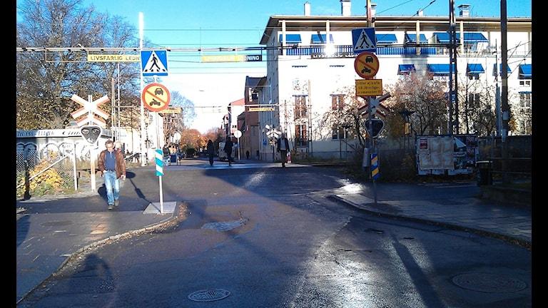 Övergången vid Sankt Persgatan. Foto: August Bergkvist / SR