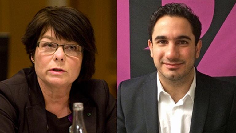 Solveig Zander och Ardalan Shekarabi