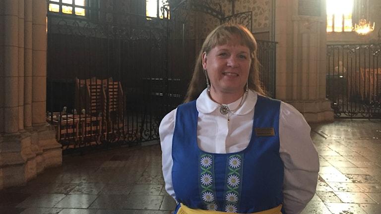 Carina Etander Rimborg i Domkyrkan.