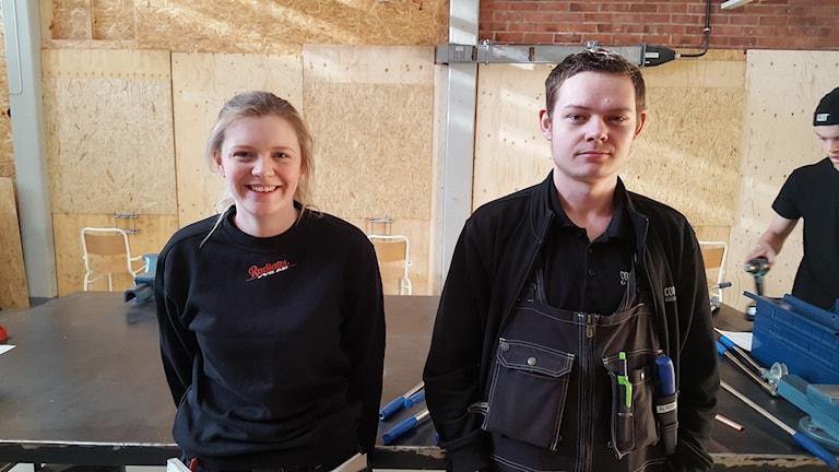 Josefin och Timmy tävlar i VVS-SM.
