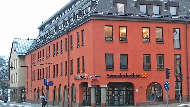 Kyrkans hus. Svenska kyrkans högkvarter i Uppsala. Foto: August Bergkvist / SR