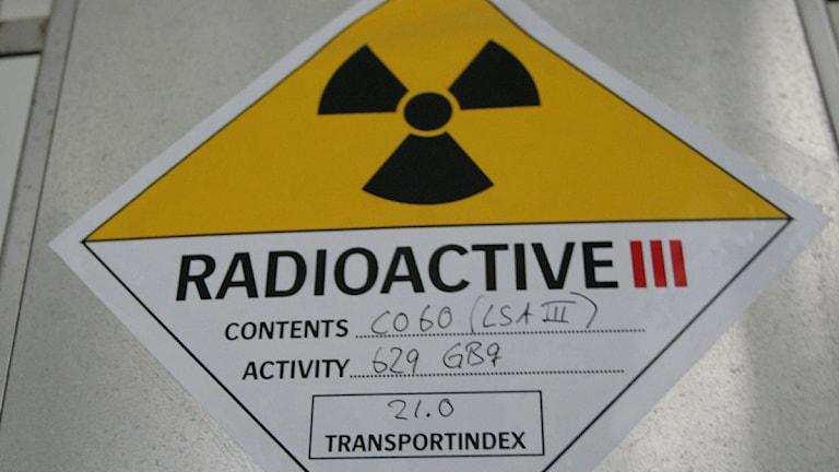 Behållare med radioaktivt material. Foto: Fredrik Sandberg / Scanpix