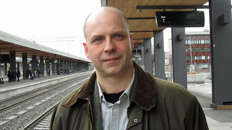 Johan Örjes, kollektivtrafiknämnden i Uppsala kommun Foto: Martin Hult/P4 Uppland