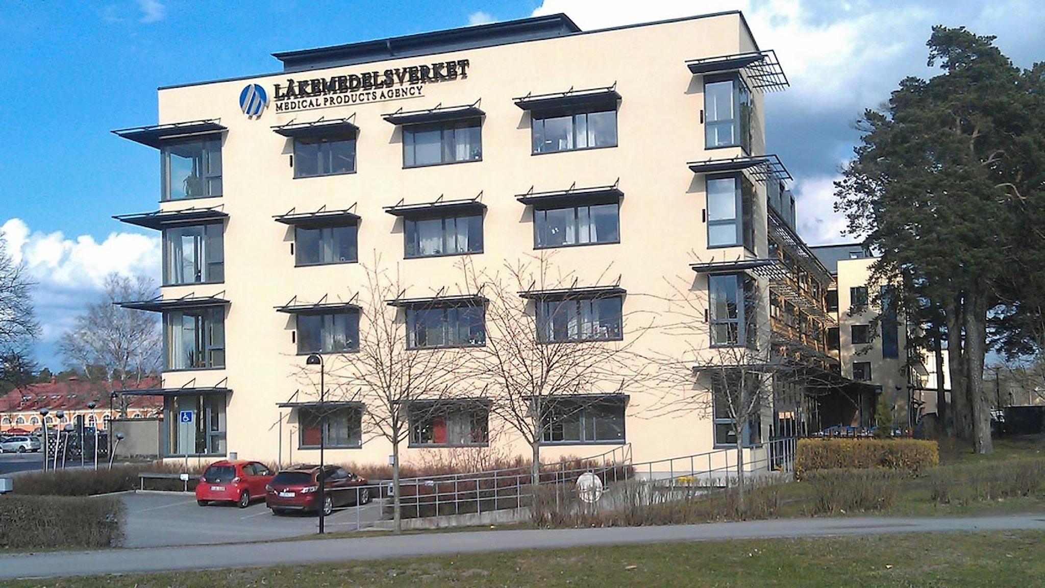 Läkemedelsverkets huvudkontor i Uppsala. Foto: August Bergkvist / SR
