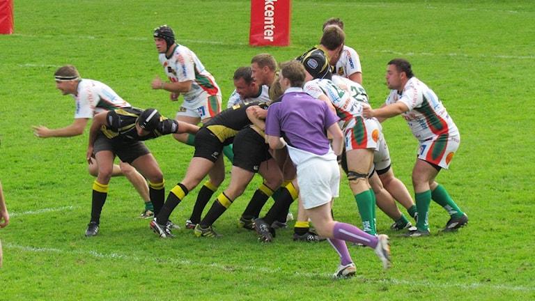 Enköpings rugbyherrar. Foto: Anna Ökvist/SR