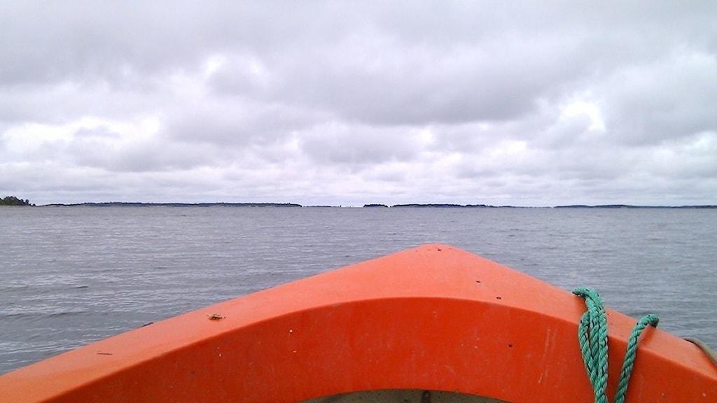 På väg ut till Gräsö östra skärgård.