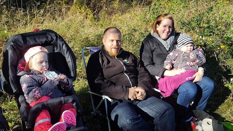 Familjen Larsson är rallyåskådare Foto Mattias Persson Sveriges Radio