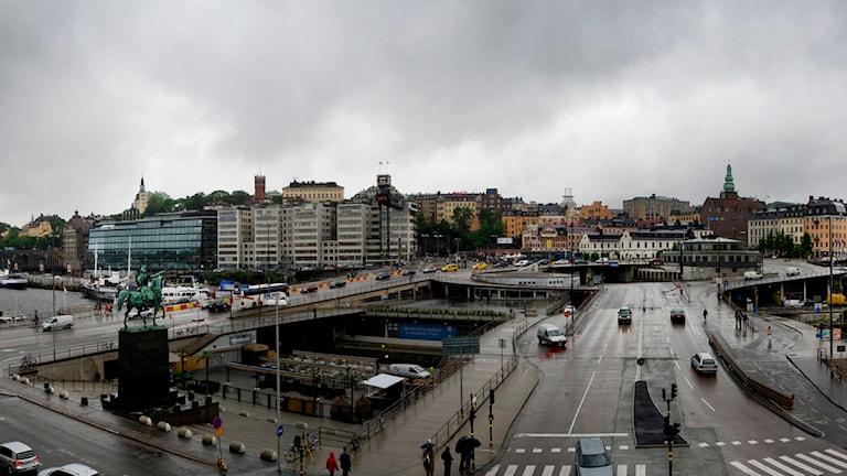 Slussen i Stockholm. Foto: Staffan Löwstedt / Scanpix