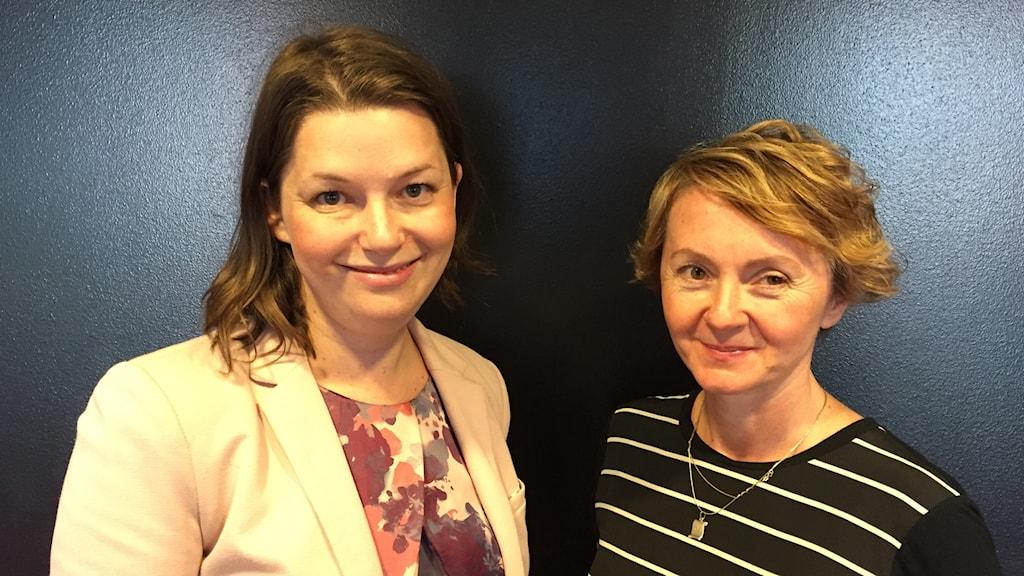 Marta Obminska (M) intervjuas av Alisa Bosnic.