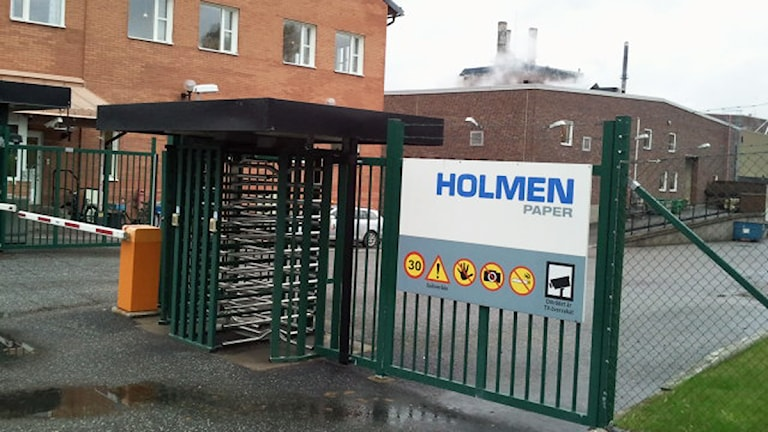 Holmen paper i Hallstavik. Foto: Cathrin Reth/Sveriges Radio