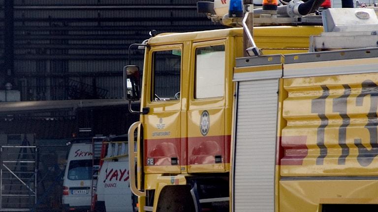 Brandbil på Arlanda (arkivbild). Foto: Scanpix
