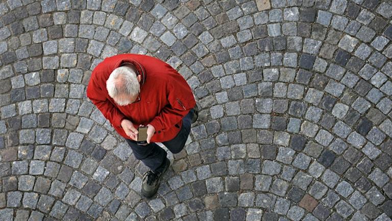 En pensionär. Foto: Hasse Holmgren/Scanpix.