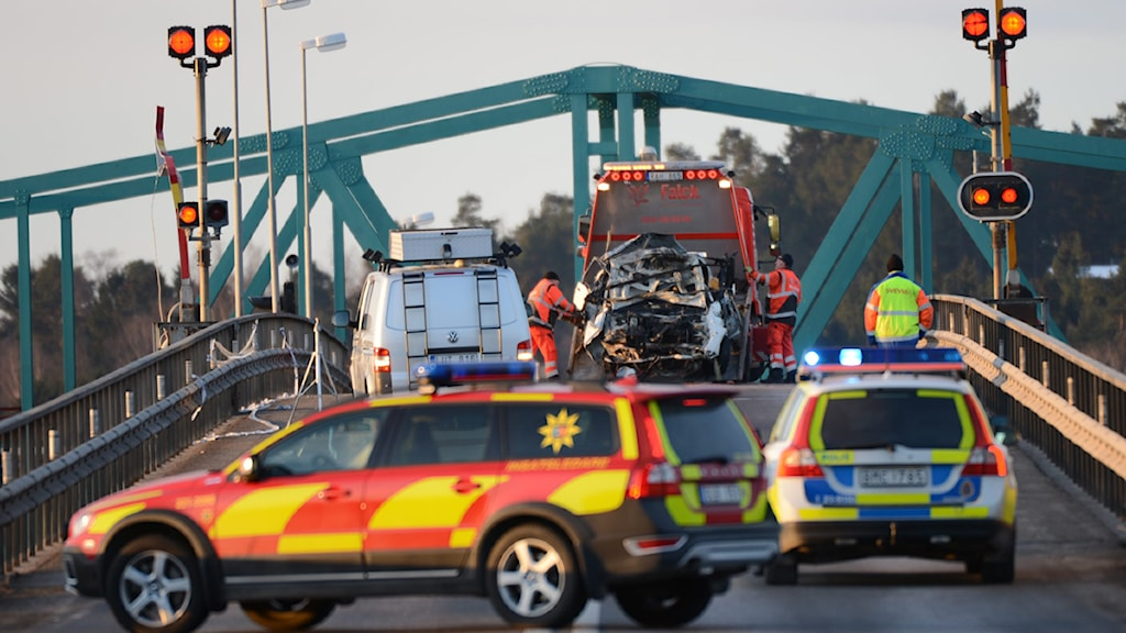 Två män omkom i olyckan vid Hjulstabron. Foto: Fredrik Sandberg / Scanpix