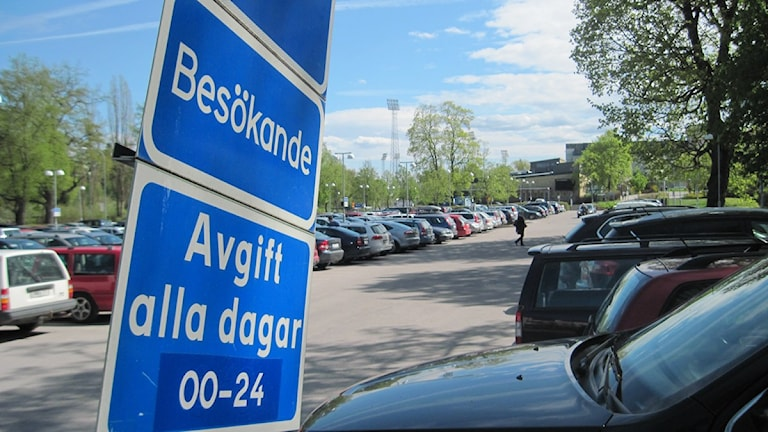 Parkeringen på Akademiska som den ser ut i dag. Foto: Mårten Nilsson/SR.