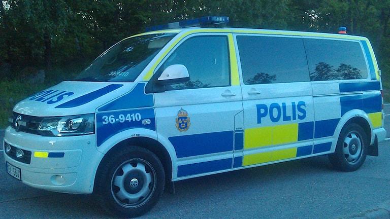 Polisbuss (arkivbild). Foto: August Bergkvist/SR