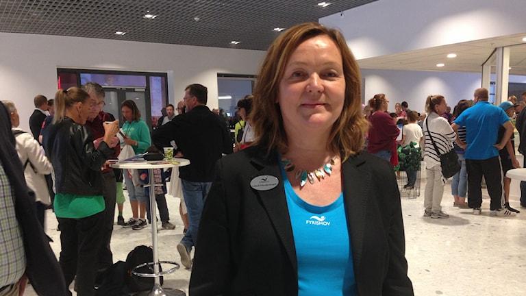 Liisa Hundertmark, VD för Fyrishov AB. Foto: Anna Bratt/SR