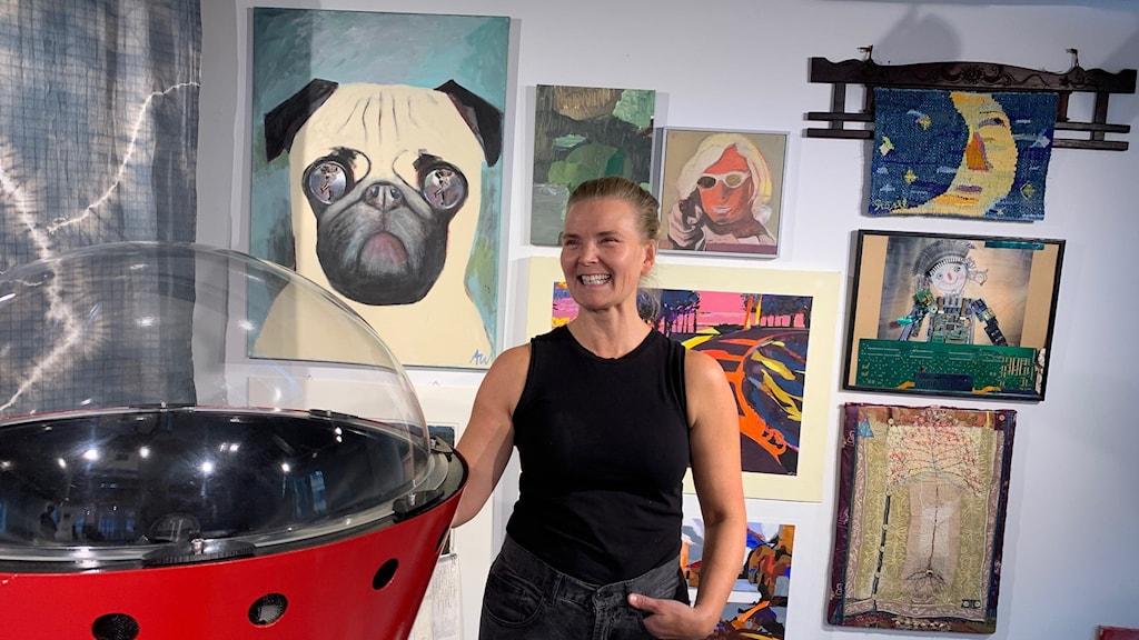 Meline Höijer Schou från Uppsala Konstnärsklubb.