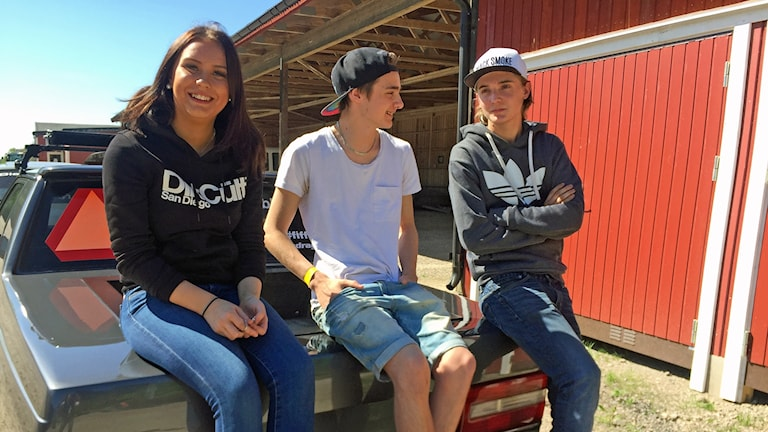 A-traktorägarna Klara Levin, William Sandberg och Alex Maniette