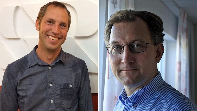 Erik Pelling (S), kommunalråd i Uppsala kommun (t. v.) och Klas Bergström (M), kommunalråd i Knivsta kommun.