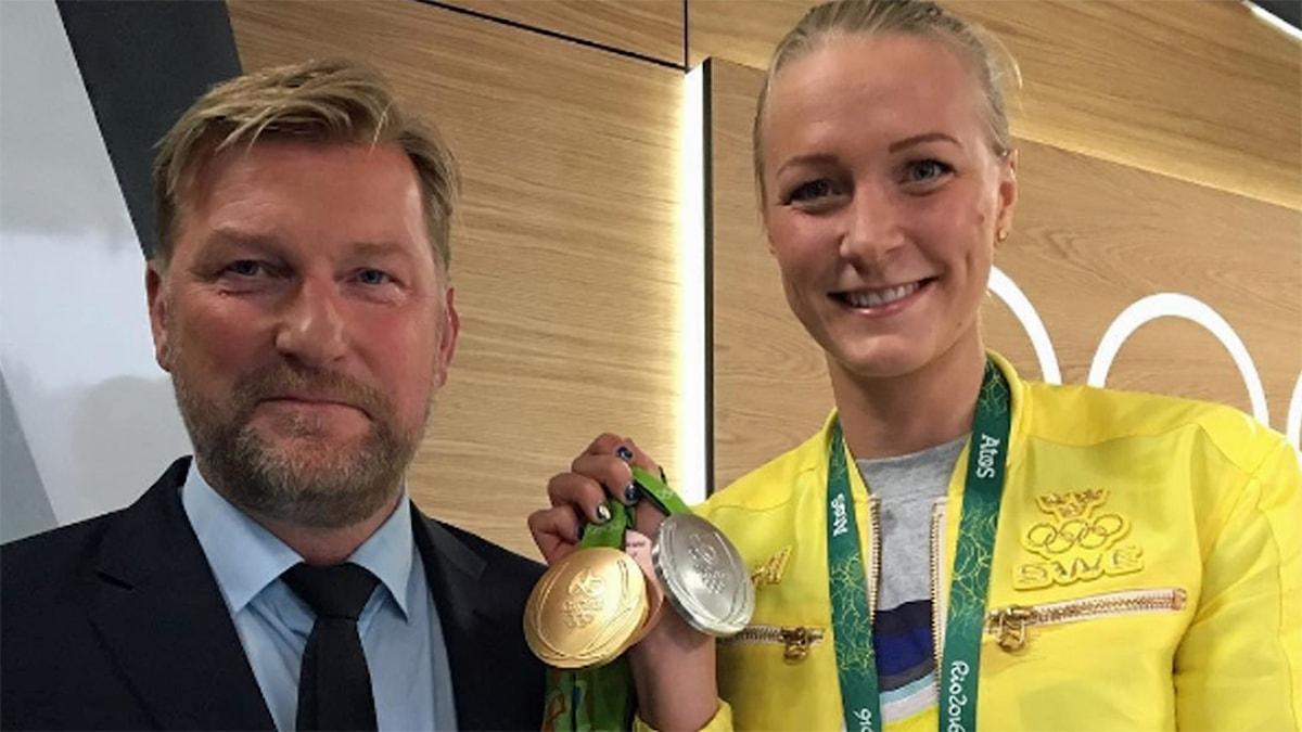 Janne Blomqvist och Sarah Sjöström.