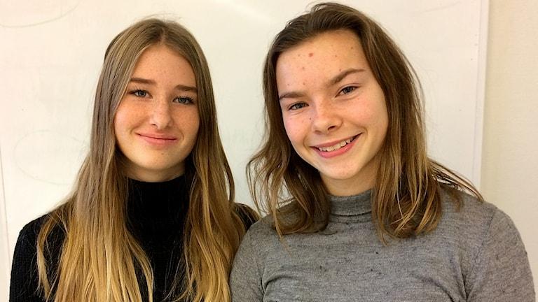 Vilma Vybiral och Kristin Joons