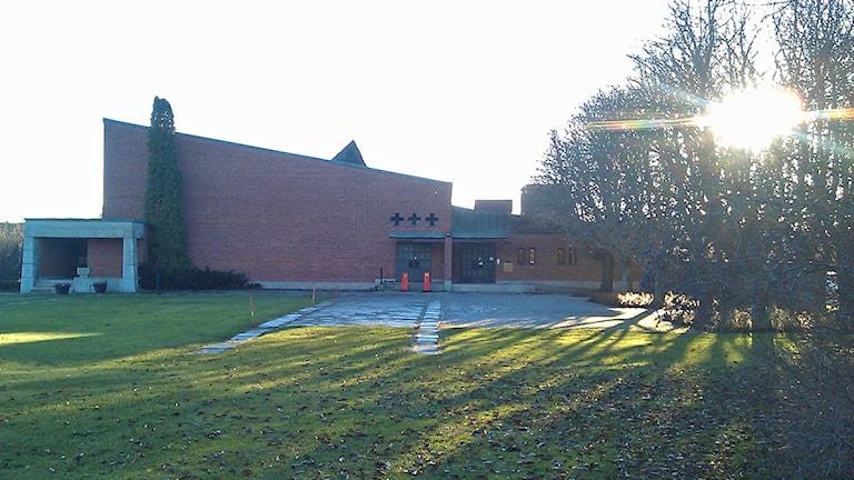 Uppsala krematorium på Berthåga kyrkogård. Foto: August Bergkvist/SR