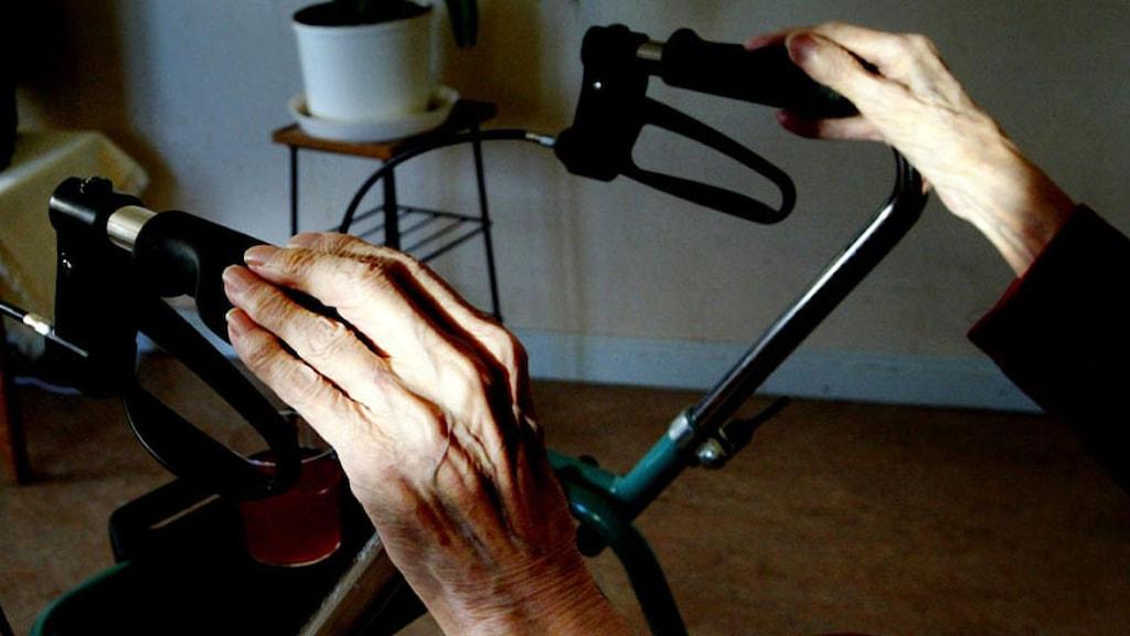 Äldre persons händer. Foto: Jessica Gow/TT