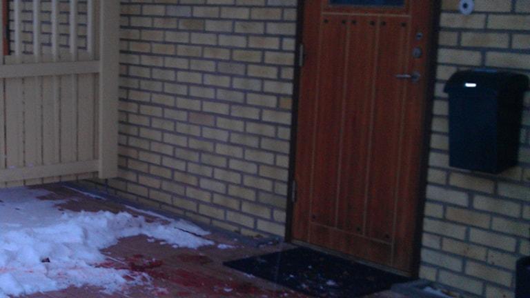 Misstänkt mord i Östhammar. Foto: Mona Wahlund/Sveriges Radio