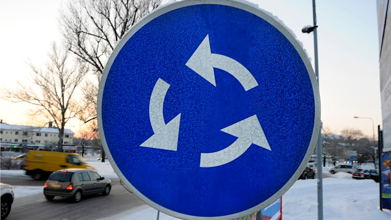 En ny rondell ska underlätta i trafiken i Librobäck. Foto: Anders Wiklund/TT