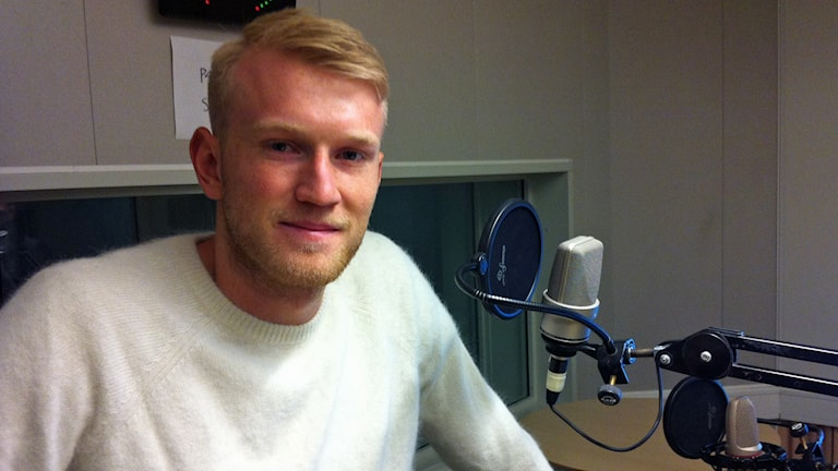 Carl Nyström, lagkapten i Sirius fotboll. Foto: Henrik Skarstedt/Sveriges Radio