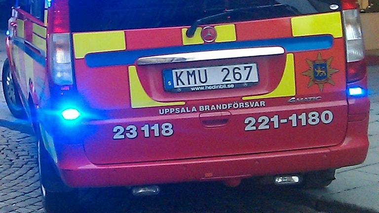 Brandbil på utryckning (arkivbild). Foto: August Bergkvist/Sveriges Radio
