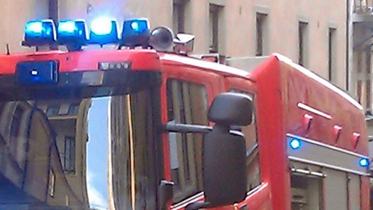 Brandbil (arkivbild). Foto: August Bergkvist/Sveriges Radio