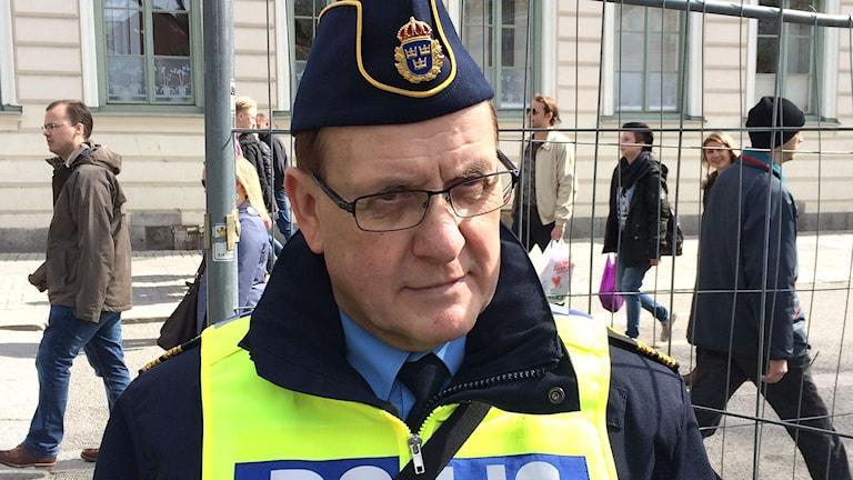 Uppsalapolisens presstalesman, Christer Nordström. Foto: Bosse Pettersson/Sveriges Radio.