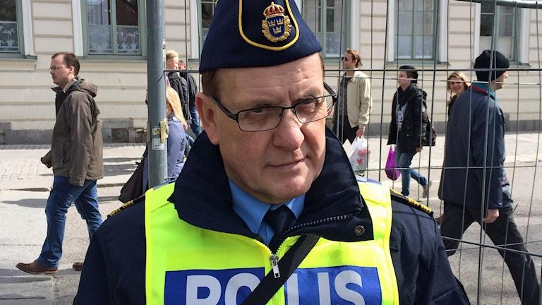 Christer Nordström, Uppsalapolisens presstalesperson. Foto: Sveriges Radio