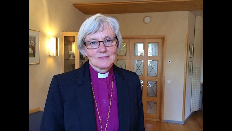 Antje Jackelén ser fram emot sitt nya ämbete som ärkebiskop. Foto: Sanna Richter / Sveriges Radio Uppland