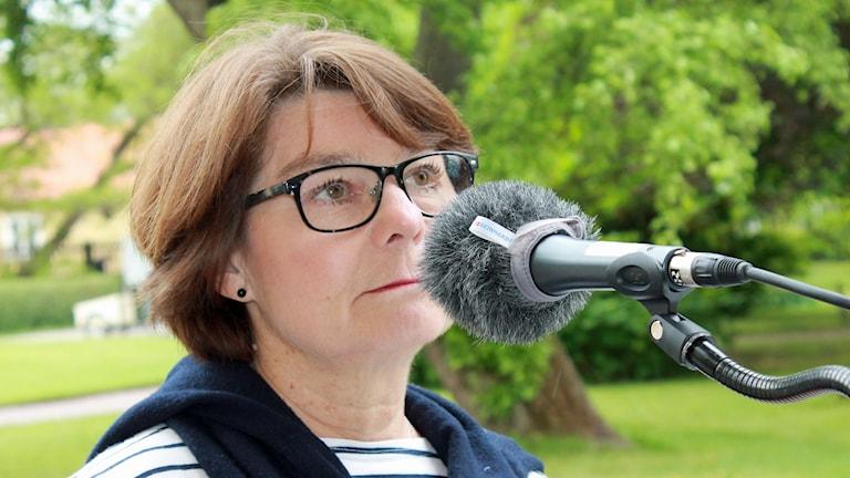 Solveig Zander, Centerpartiets förstanamn i Uppsala län till riksdagsvalet 2014. Foto: Elin Roumeliotou/Sveriges Radio
