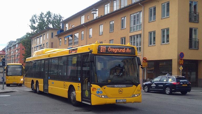 UL-bussar på Vaksalagatan i Uppsala. Foto: August Bergkvist/Sveriges Radio