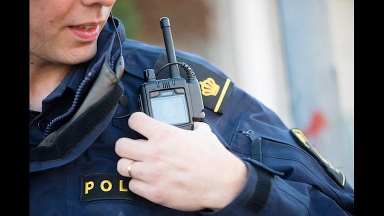 Polisradio. Foto: TT