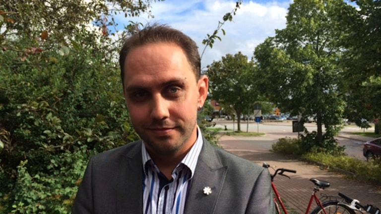 Michael Rubbestad för Sverigedemokraterna i Håbo. Foto: Anton Dyrssen