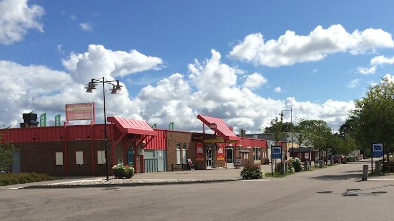 Skutskärs centrum. Foto: Mona Wahlund/SR