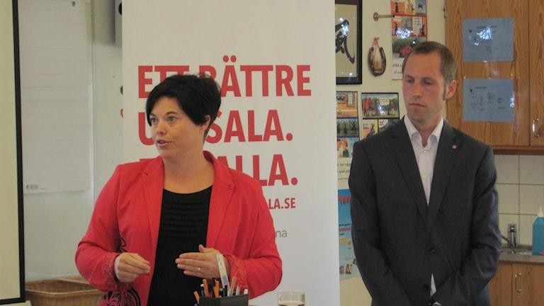 Marlene Burwick och Erik Pelling. Foto: Mårten Nilsson/SR.