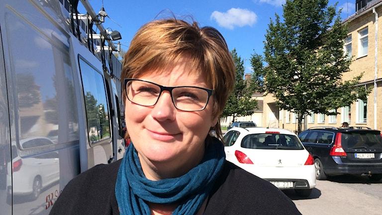 Catarina Deremar (C) i Tierp. Foto: Sofia Söderholm/ Sveriges Radio.