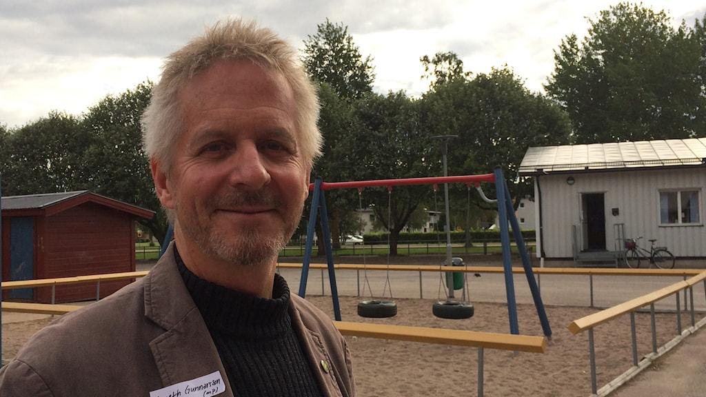 Kenneth Gunnarsson (MP) i Tierp. Foto: Sofia Söderholm/ Sveriges Radio.