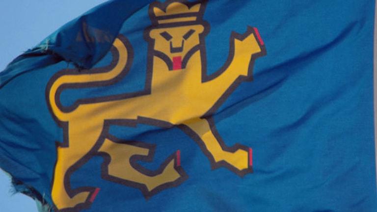 Uppsala kommuns flagga (arkivbild). Foto: Mona Wahlund/Sveriges Radio