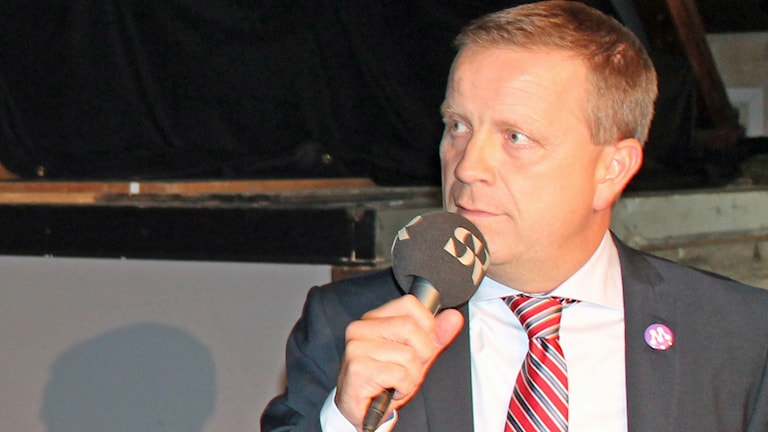 Fredrik Ahlstedt (M) i Uppsala. Foto: Erik Thyselius/Sveriges Radio