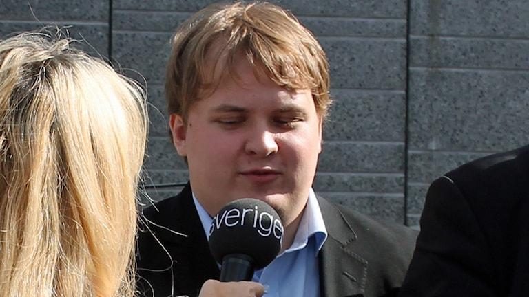 Pavel Gamov (SD) i Uppsala. Foto: Erik Thyselius/Sveriges Radio