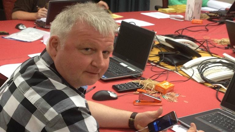 Arne Åhman, valsamordnare på Länsstyrelsen i Uppsala län. Foto: Åsa Nylander/Sveriges Radio