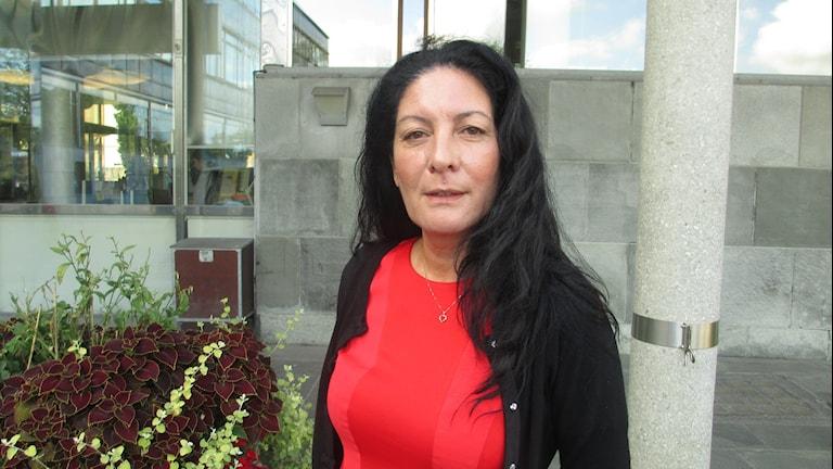 Vänsterpartiets Jeannette Escanilla. Foto: Martin Hult/SR.